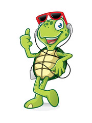 Turtle with Earphone
