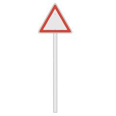 cartoon image of traffic sign
