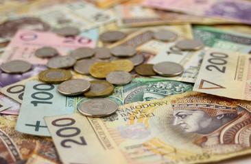 Fototapeta Banknoty i monety polskie obraz