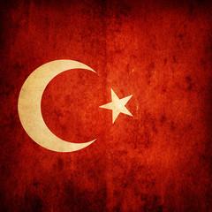 Fototapete - Turkey grunge flag