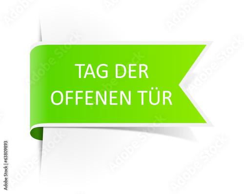 Tag der offenen tür schild  Schild grün Tag der offenen Tür