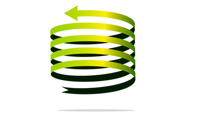 Foto op Aluminium Spiraal freccia spirale