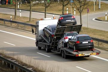 Fototapete - Auto Transport