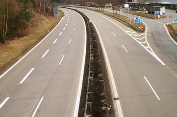 Fototapete - Absolut freie Autobahn