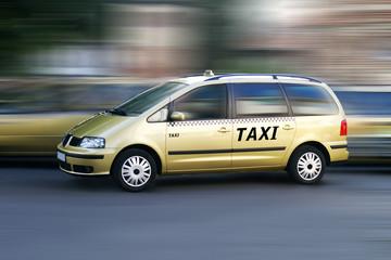 Taxi unterwegs