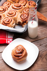 Milk and cinnamon buns