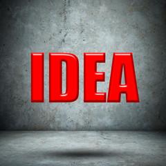 IDEA on concrete wall