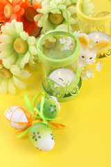 Easter decoration with bunny and eggs