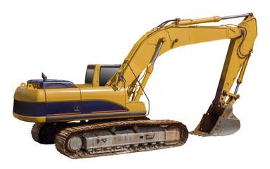 Excavator shovel loader, isolated