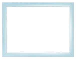 blue plastic flat simple picture frame
