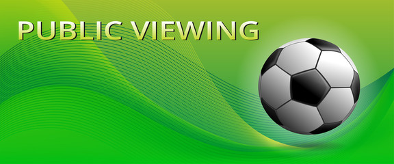Vector Soccer Ball ,Green Swooshes, Public Viewing