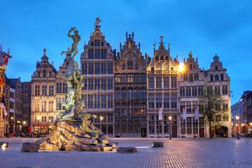 Foto op Textielframe Antwerpen Grote Markt, Antwerp, Belgium