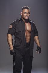 Good looking policeman