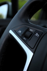speed limitation on a steering wheel in modern car