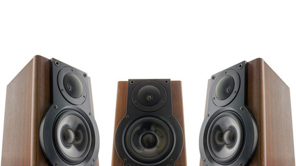 Three audio speakers