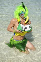 Brazilian Soccer Ball Drag Queen