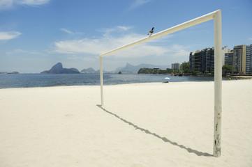 Football Goal Post Rio de Janeiro Beach