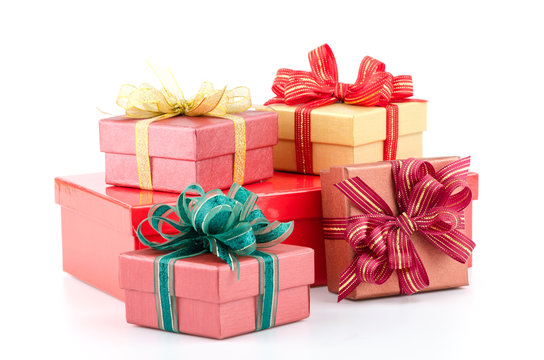 Gift box isolated white background