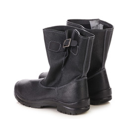 Pair of black man's boots.