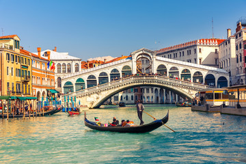 Wall Murals Gondolas Rialto Bridge in Venice