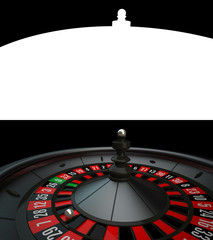 Black Casino Roulette with alpha channel
