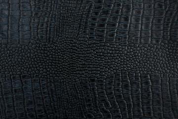 Black crocodile skin texture as a background