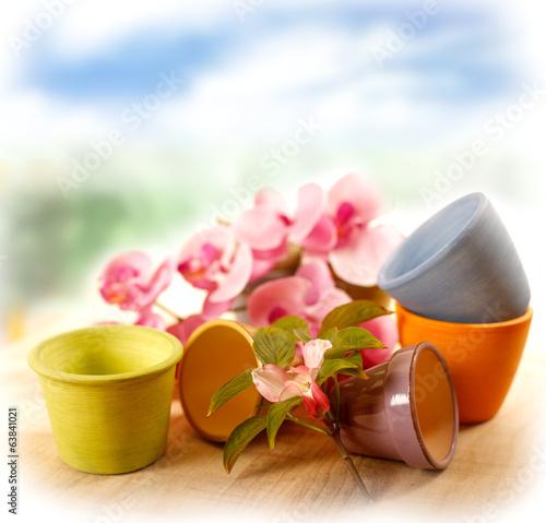 Vasi in terracotta colorati immagini e fotografie for Vasi in terracotta prezzi