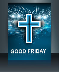 Beautiful card for good friday brochure template Cross vector