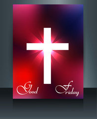 Brochure good friday template card colorful reflection design ve