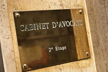 plaque cabinet d'avocats