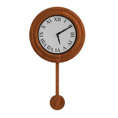 realistic 3d render of old clock