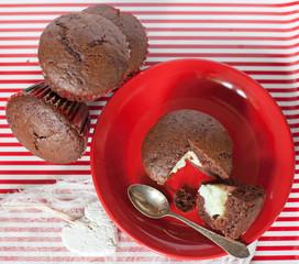Babeczki mufinki czekoladowe