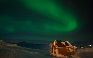 Northern Lights over Tasiilaq, Greenland