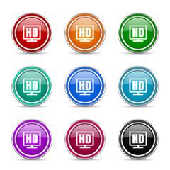 hd display vector icon set