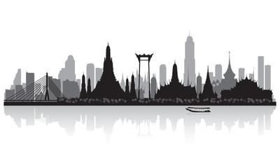 Wall Mural - Bangkok Thailand city skyline silhouette