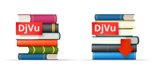 DJVU books stacks  icons