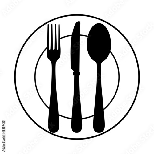 Quot Plate And Cutlery Quot Stock Image And Royalty Free Vector