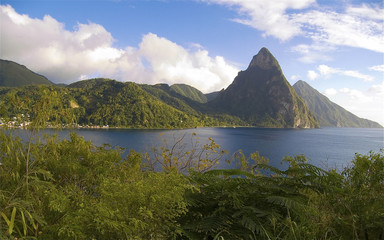 Pitons Soufriere 3 Santa Lucia Caribbean