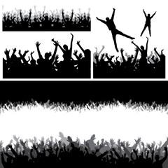 Jumping crowd
