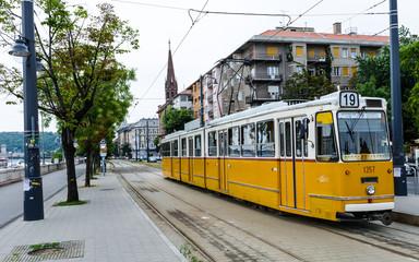 Yellow Tram, Budapest, Hungary
