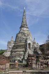 Ancient pagoda at Wat Phra Si Sanphet in Ayutthaya, Thailand