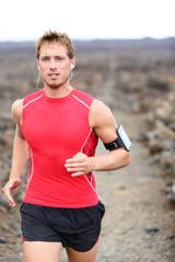 Athlete running - male runner exercising