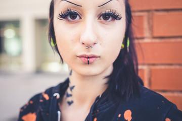 young beautiful punk dark girl