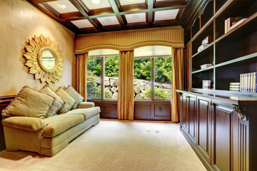 Luxury house interior. Office room