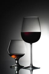 Wine and cognac