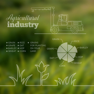 Agricultural industry infographic design.