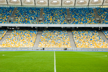 Foto op Plexiglas Stadion empty soccer stadium