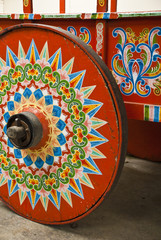 Costa Rica - Typical Decorated And Painted Ox Cart Wheel