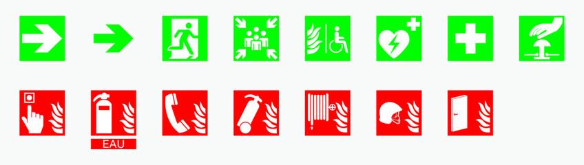 Sécurité Incendie nouveaux symboles