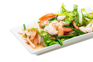 Glass noodle with seafood